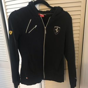 Ferrari hooded zip sweatshirt